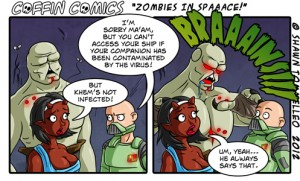 Zombies in Space- Coffin Comics Fun