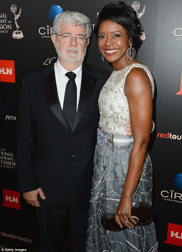 Georg Lucas and Mellody Hobson