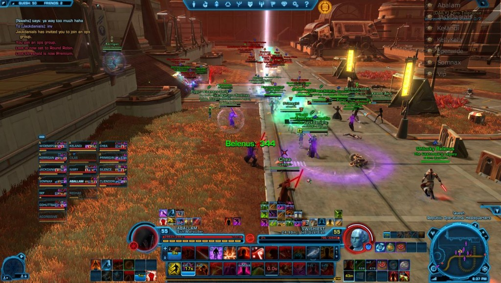swtor open world pvp