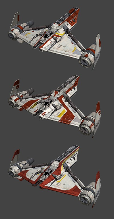 Republic Gunship paint jobs