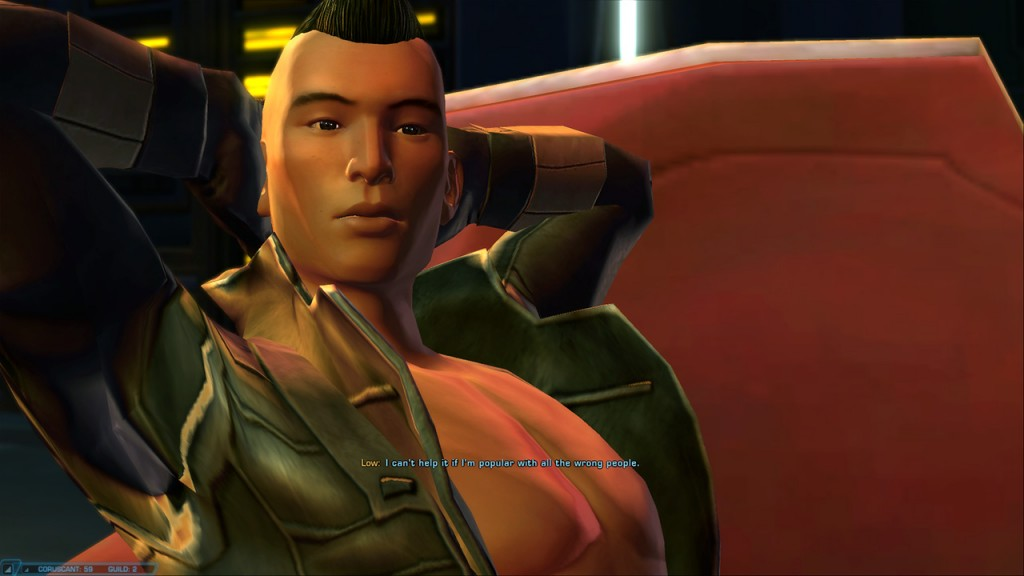 Lifestyle as a swtor Scoundrel