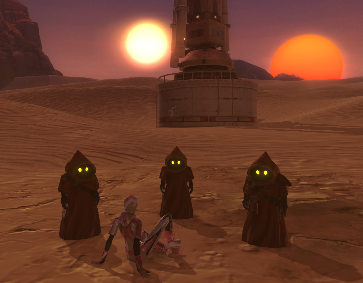 Hanging with the Jawas on Tatooine