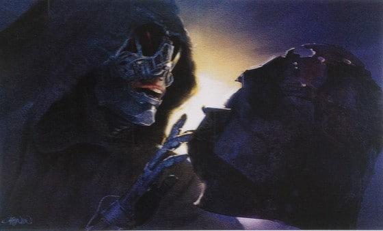 Sydow's character examining Vader's helmet 1
