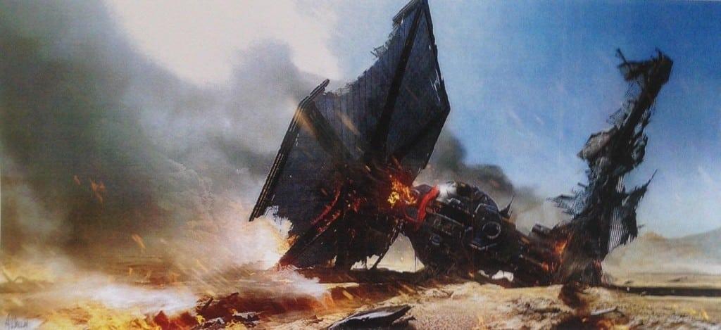 TIE fighter wreckage