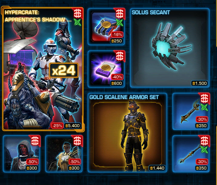 SWTOR CM weekly sales for Mar 3 – 10