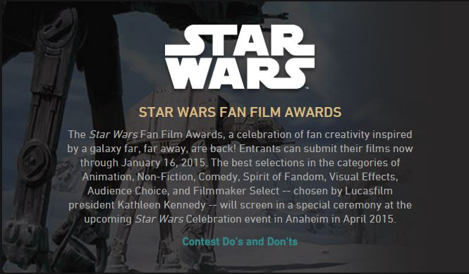 Star Wars Fan Film Awards 2015