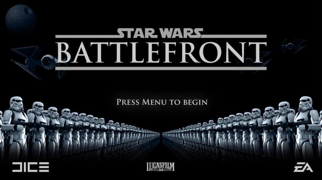 start menu for the new Star Wars Battlefront
