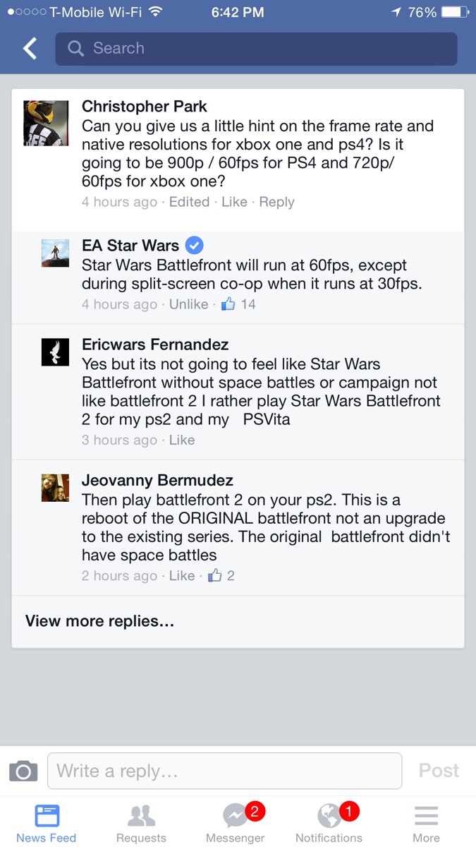 Battlefront Will Run at Both 60fps AND 30fps on Consoles
