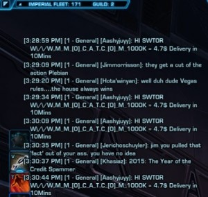 swtor credit spammers