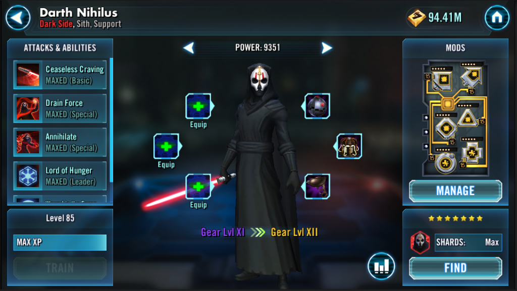 Darth Nihilus now available in Star Wars Galaxy of Heroes