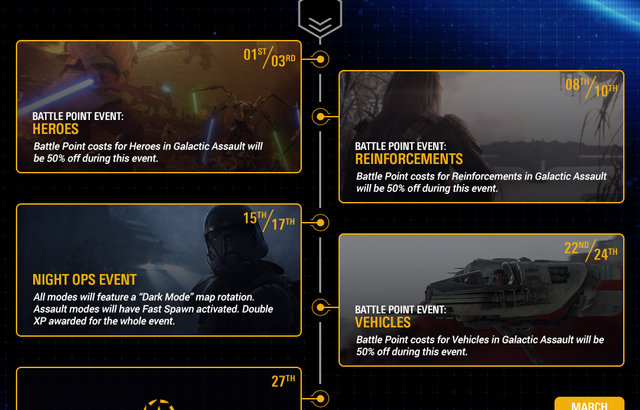 Star Wars Battelfront 2 – Community Calendar - February 2019