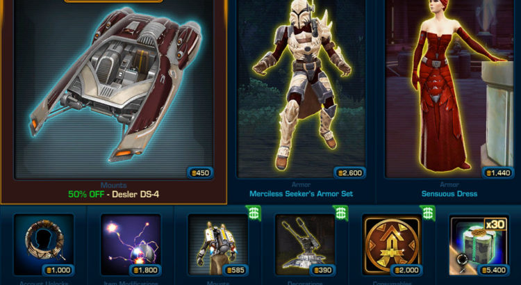 Changes to the Cartel Market — Monday April 22 2019