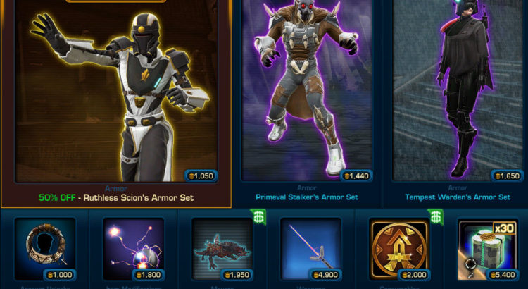 SWTOR Cartel Market Update for April 22