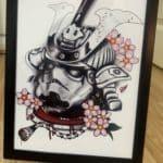 Star Wars stormtrooper samurai namakubi prints